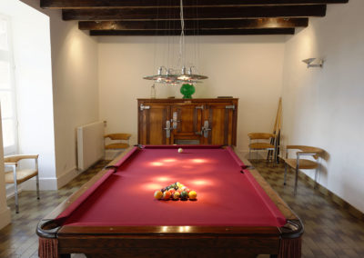 Chateau south west france billiard room