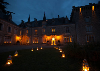 Chateau south west France night
