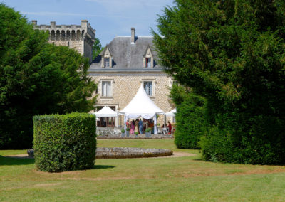 Chateau south west France summer celebration