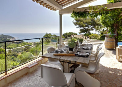 Luxury villa cote d'azur terrace