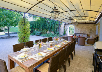 Luxury villa provence pool outside dining