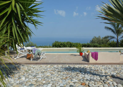Luxury villa in Sicily poolside 2