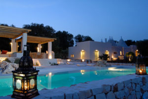 Trulli Puglia with pool night