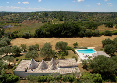 Trulli puglia with pool aerial