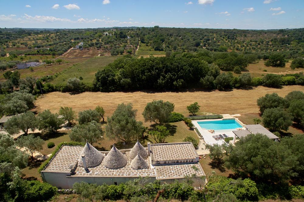 Trulli puglia with pool aerial