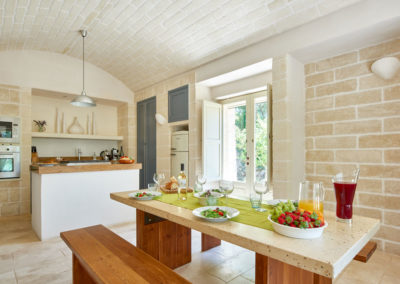 Trullo in Puglia kitchen