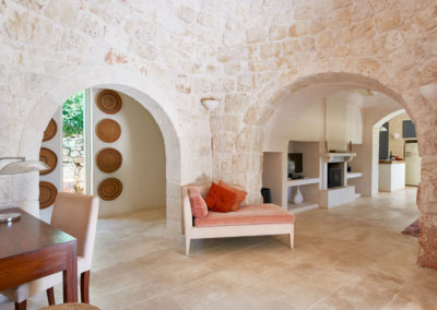 Trullo in Puglia living space
