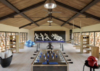 Tuscany villa games room